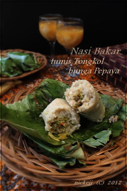 Nasi Bakar (tumis tongkol bunga pepaya) | Au coin de ma