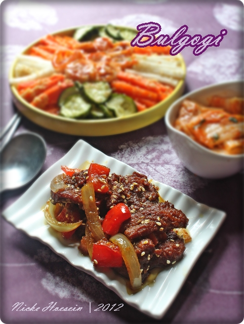 Bulgogi ( Korean BeefBarbeque)