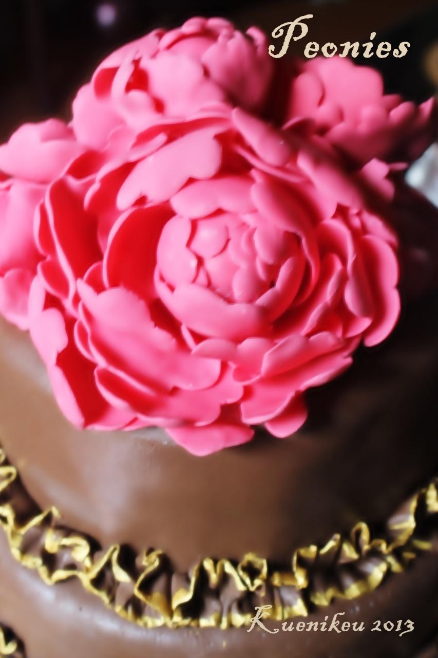 Peonies Wedding Cake Au Coin De Ma Cuisine