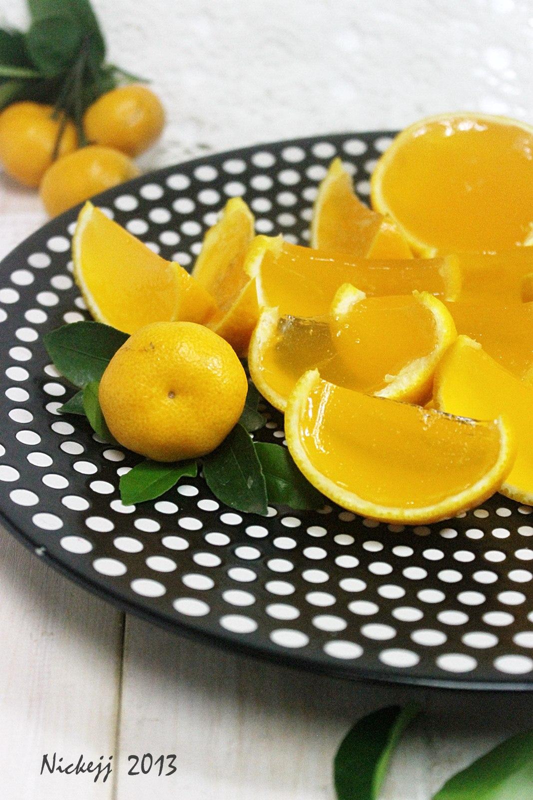 Orange Jelly Pudding
