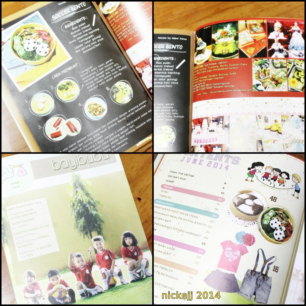Soccer Bento on Bayibubu magazine