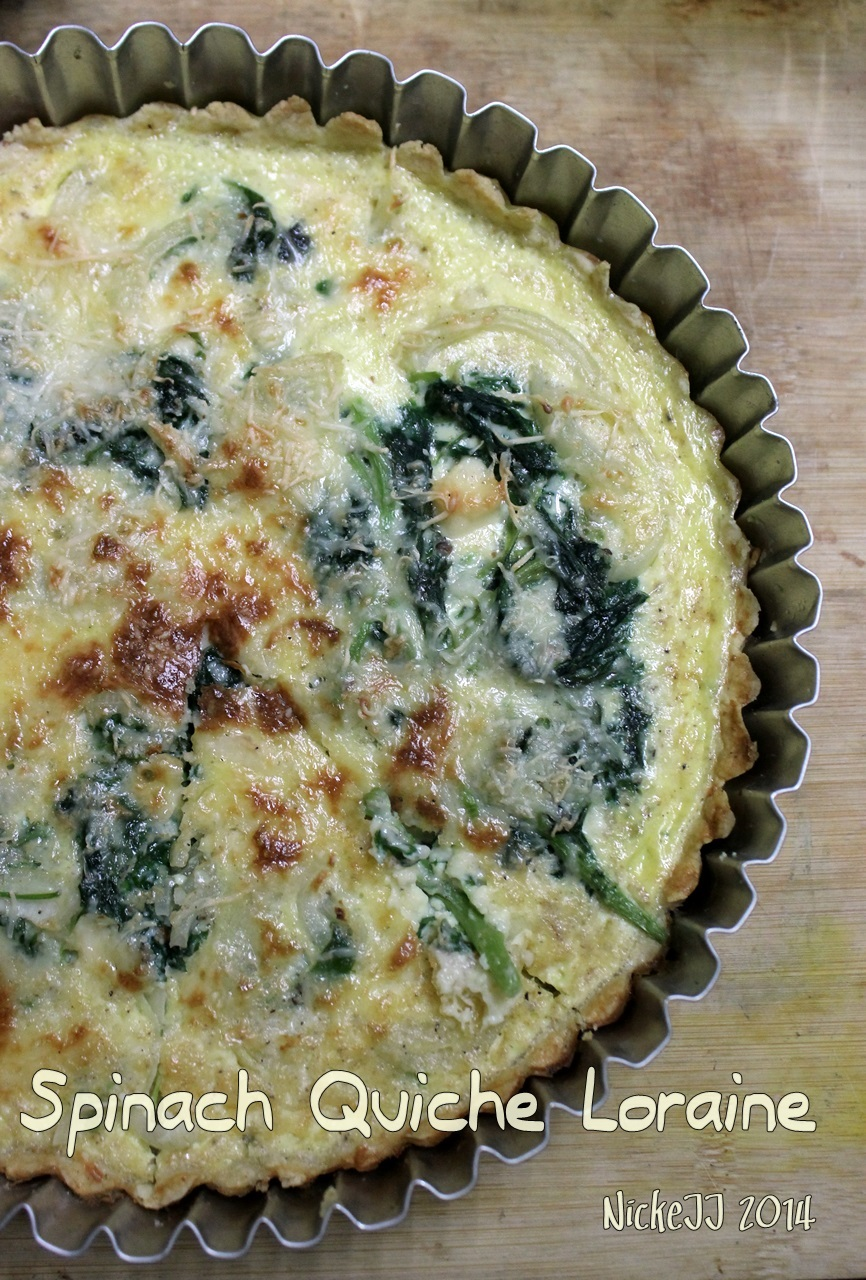 Spinach Quiche Loraine