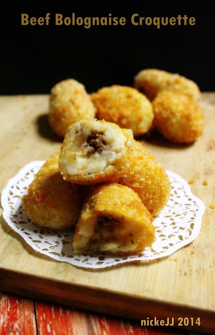 Beef Bolognaise Croquette (inspirasi resep dariUFS)