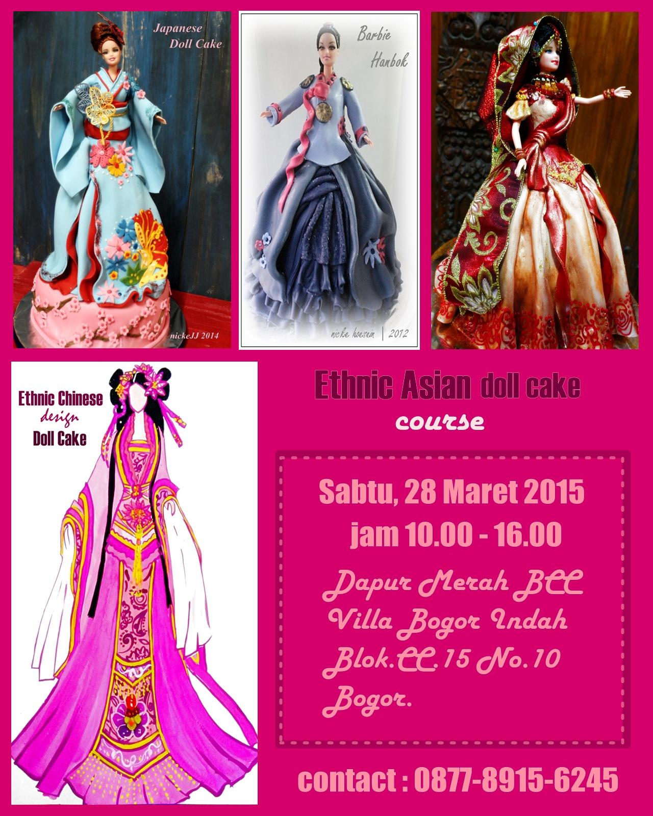 Ethnic Asian Doll Cake course ….again atBOGOR