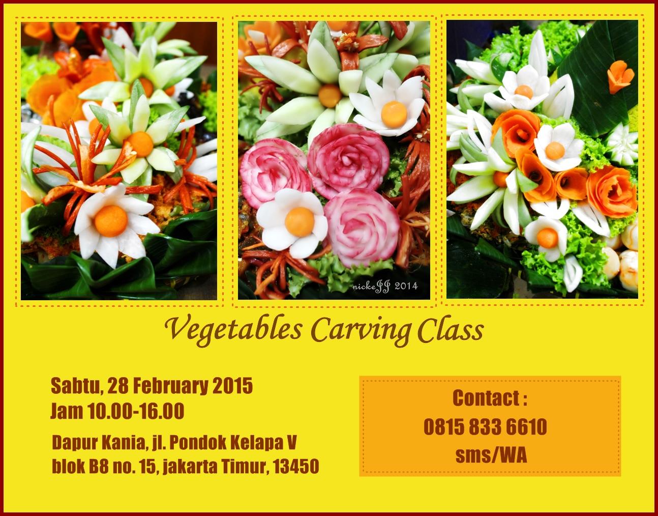 Vegetable Carving Class …..at Pondok Kelapa, jakartaTimur