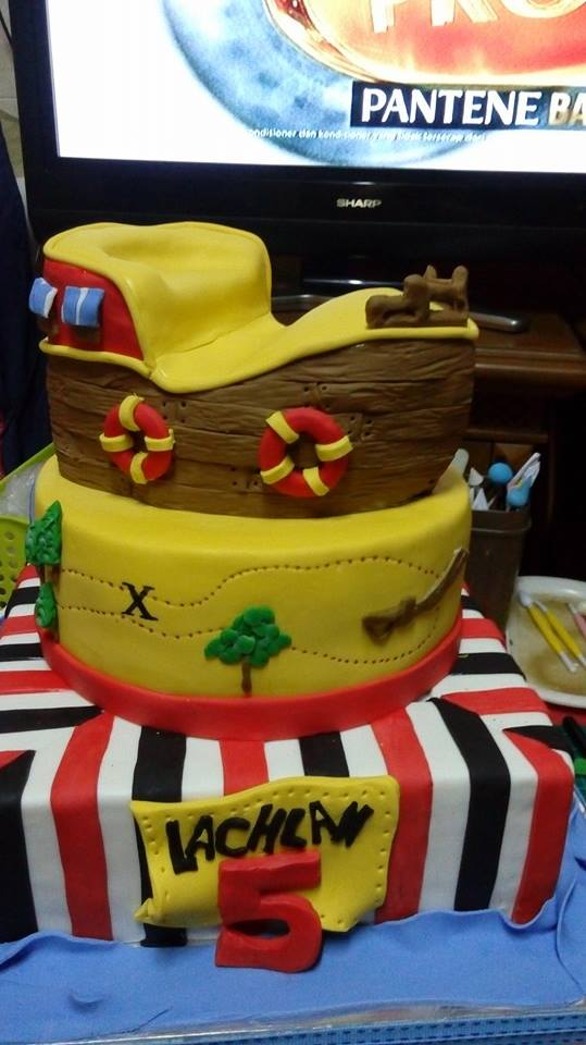 Jack Pirate Tier Cake