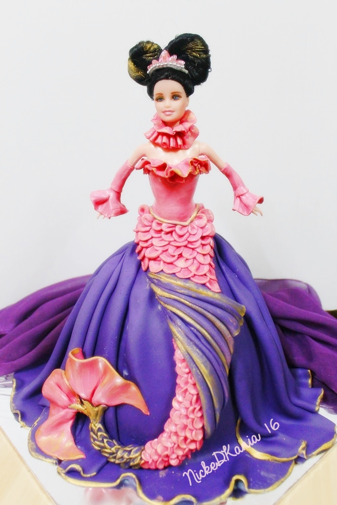 Mermaid Barbie Doll Cake