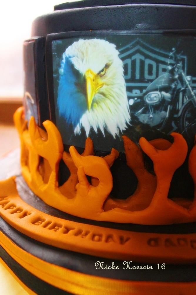 "Cake 2D edible printing""Harley Davidson"""