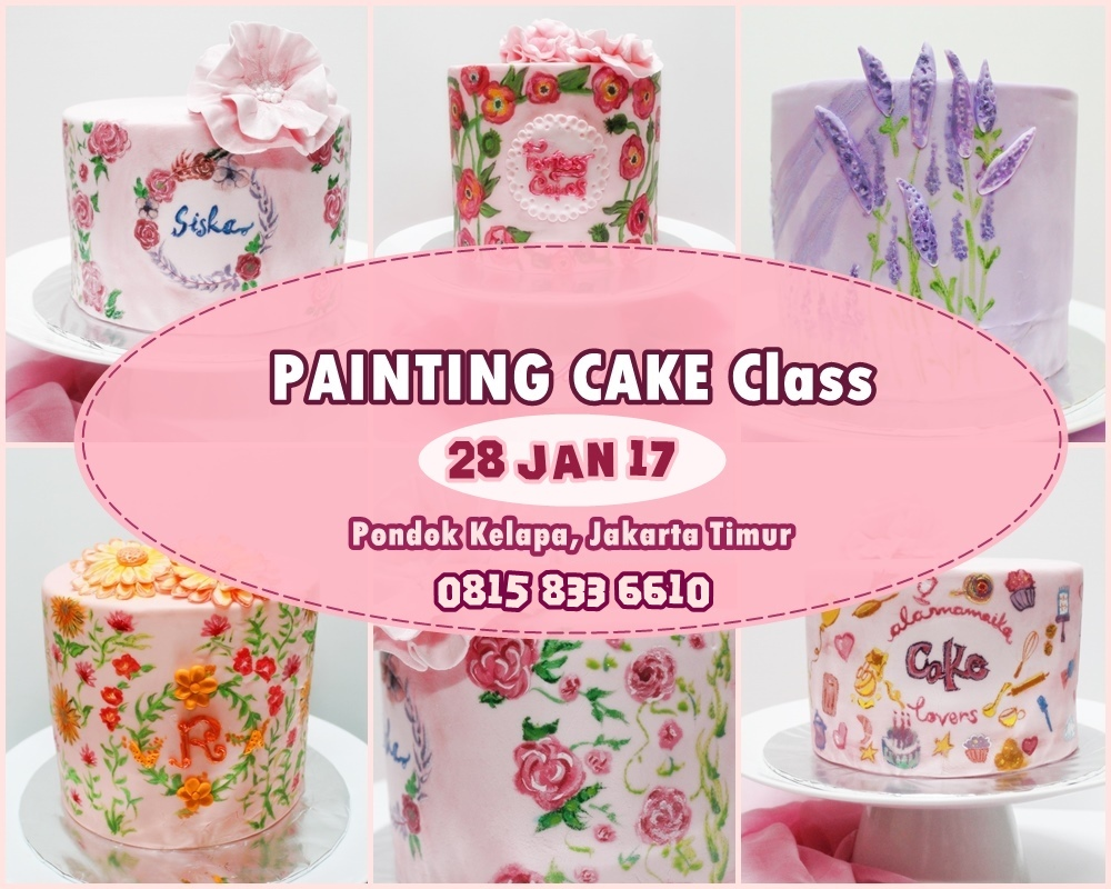 Class Basic Painting Cake