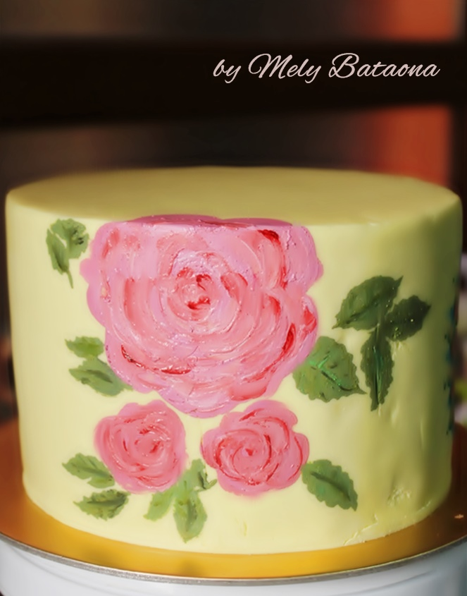 Mandala Painting Cake