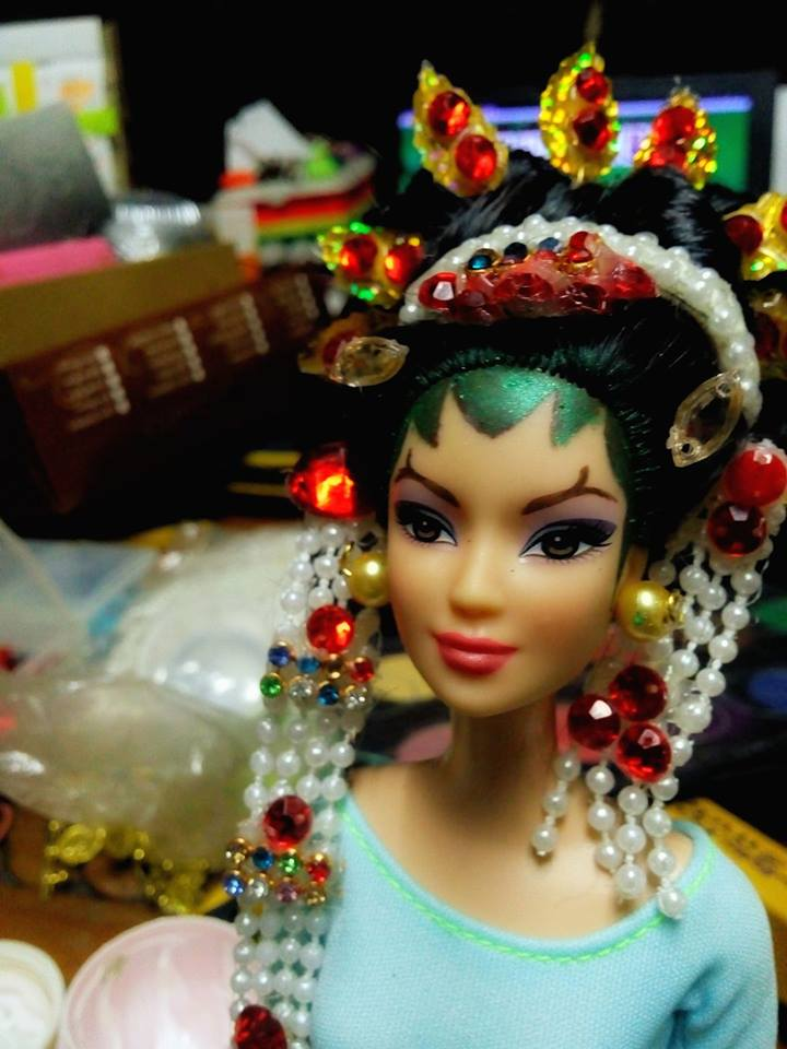 Javanese  Ethnic Doll on Wedding Cake