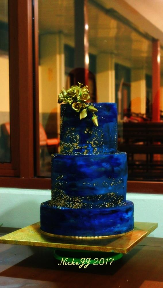 Navy Blue WeddingCake