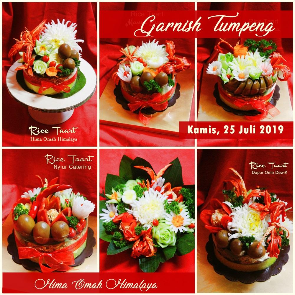 Garnish Rice Tart/Nasi Kuning by Hima OmahHimalaya